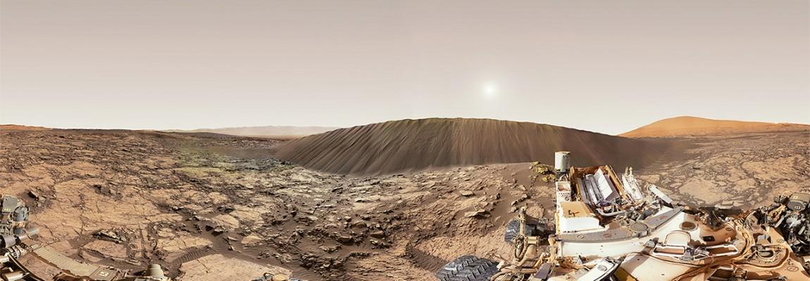 16 metrowa wydma Marsjańska, panorama 360st z Curiosity, dzień 1197