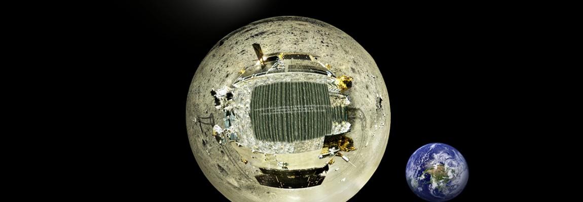 Wirtualna panorama Księżyca z Chińskiego lądownika Chang'e 3